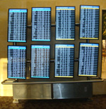Sky Harbor airport flight information displays